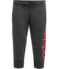 adidas Performance ESSENTIALS LINEAR Jogginghose black melange/shock red