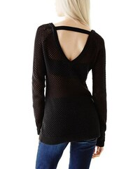 Guess Svetr Valencia Mesh Knit Sweater