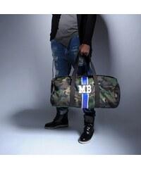 Mia Bag Army (unisex) taška - válec modrý pás, Barva Modrá