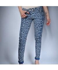 Klixs Jeans Oboustranné slim džíny modro - tygrované, Barva Modrá, Velikost 38