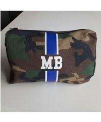 Kosmetická Army taška (unisex) - modrý pás