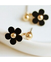 Náušnice Flower black