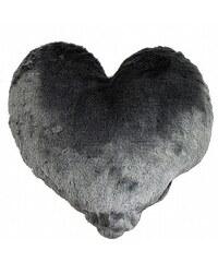 Bastion collections - Polštář srdce chlupatice 45cm Ice Navy (IN-HEART-L-ICENAVY)