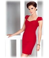 S-a-F SHIM.cz Dámské společenské šaty s krátkým rukávem červené