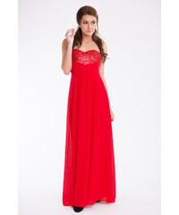 PINK BOOM Dámské dlouhé společenské plesové šaty BOOM červené