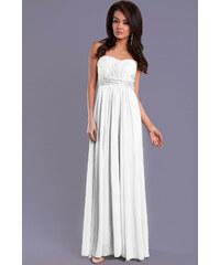 Večerní EVA LOLA dámské společenské plesové šaty bílé