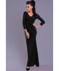 PINK BOOM Dámské dlouhé společenské šaty BOOM černé