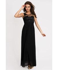 Dámské společenské šaty plesové EVA LOLA dlouhé černé
