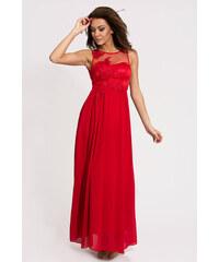 Dámské společenské šaty plesové EVA LOLA dlouhé červené