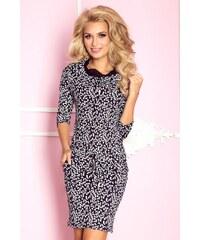b0c14376744 numoco Dámské sportovní šaty s tkanicemi a kapsami středně dlouhé černo-bílé