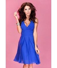 S-a-F Luxusní dámské společenské a plesové šifonové šaty SHIM.cz KARA 351 modré