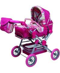 Knorrtoys Kočárek pro panenky Twingo růžový pruhovaný