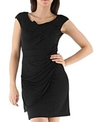 MEDI MODE PARIS MEDI MODE Dámské společenské šaty falešně zavinovací s mašlí černé