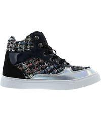 Lesara High-Top-Sneaker im Material-Mix - 36