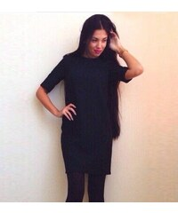 001 Dámské šaty černé hladké