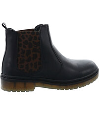 Lesara Chelsea-Boots mit Leo-Print - 36