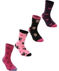 Ponožky Miss Fiori Design 4 Pack dět.