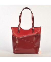 Delami Dámská kožená kabelka Red Evocation