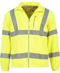 Reflexní bunda Dunlop Fleece pán. žlutá