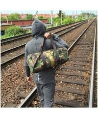 Mia Bag Army (unisex) taška - válec zlatý pás, Barva zlatá