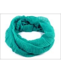 Lehký tyrkysový kruhový šátek