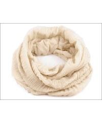 Lehký béžový kruhový šátek