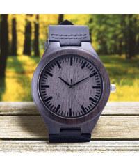 Lesara Ebenholz-Armbanduhr mit Lederband