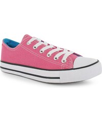 Lee Cooper Great Low Childs Canvas Shoes Fuschia