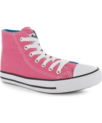 Lee Cooper Great High Childs Canvas Shoes Fuschia