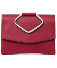 Gretchen Oyster Clutch Two - Royal Red