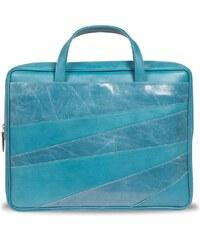 Gretchen Linear Laptop Carrier - Aqua Blue