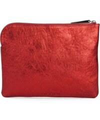 Gretchen Mini Tablet Purse - Fire Red Metalic