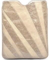 Gretchen Linear iPad Case - Vanilla Sand