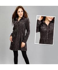 Lesara Cord-Kleid mit Brusttaschen - M