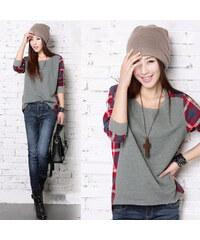 Lesara Sweater im Karo-Design - L
