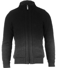 Firetrap Realm Knitted Jacket Boys Charcoal/Black