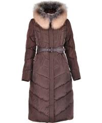 Dlouhý kabát Snowimage hnědý