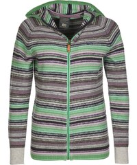 State of Elevenate Montagne Hood W veste en laine emerald green