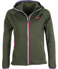 State of Elevenate Arpette Stretch Hood W veste polaire deep forest