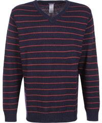 Patagonia V-Neck pull en laine tana stripe/classic navy