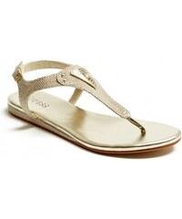 GUESS GUESS Carmela T-Strap Sandals - tan/lion