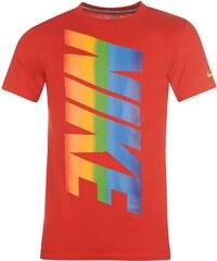 Tričko Nike Rainbow QTT pán. červená
