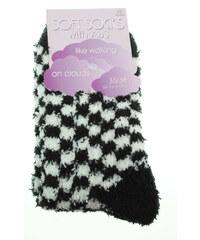 Rejnok Dovoz Soft Socks with ABS dámské ponožky 64167 černá-bílá