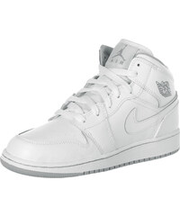 Jordan 1 Mid Gs chaussures white