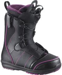 Salomon Pearl Boa W boots black/deep plum