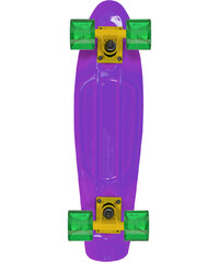 Stereo Vinyl Cruiser Skateboard purple-orange-GREEN