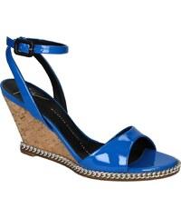 Sandales compensées Giuseppe Zanotti en cuir verni Azur