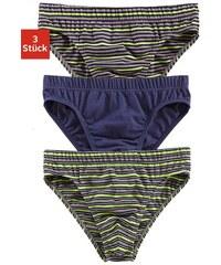 Authentic Underwear Slip (3 Stück) uni und mit garngefärbten Streifen Authentic Underwear Le Jogger grün 3,4,5,6,7,8,9