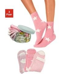 LAVANA Basic Kuschelsocken (3 Paar) in der Geschenkbox rosa 35-38,39-42