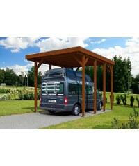 SKANHOLZ Einzelcarport »Caravan Friesland«, BxT: 397x555 cm